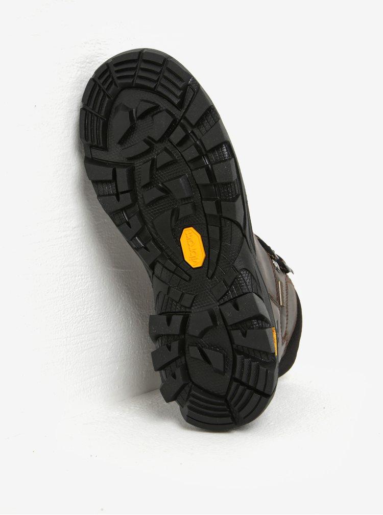 Tmavě hnědé kožené kotníkové boty  Weinbrenner