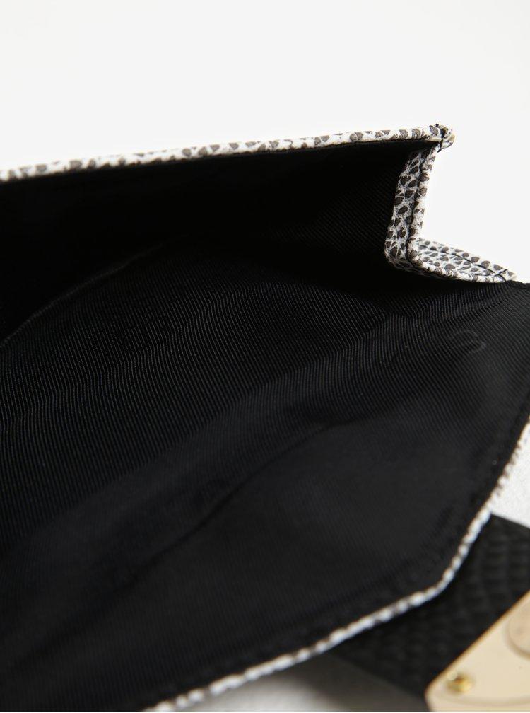 Portofel negru&crem dublu cu  aspect 2 in 1 - Bessie London