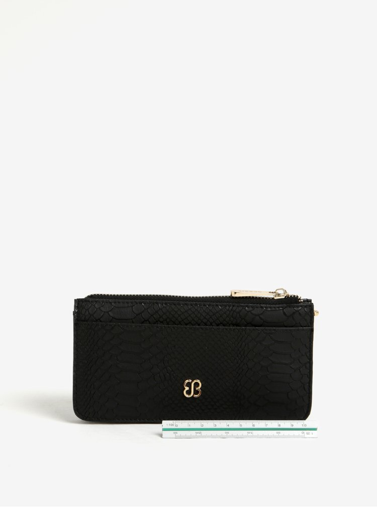 Černá vzorovaná peněženka s pouzdrem 2v1 Bessie London