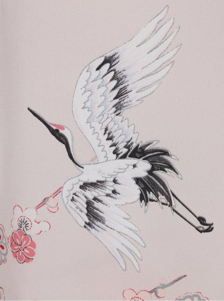 Meruňková květovaná halenka s průstřihy na ramenou Dorothy Perkins