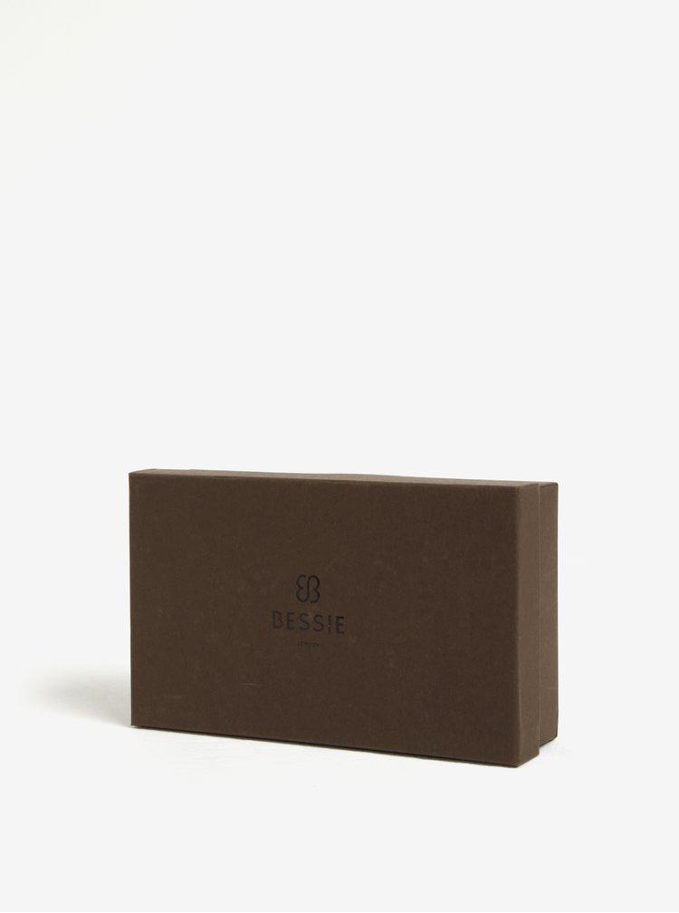 Portofel mare negru & maro cu detalii aurii -  Bessie London