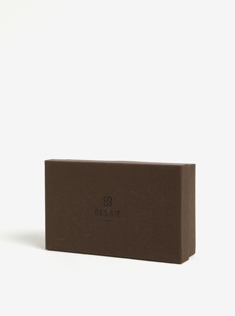 Portofel mare negru cu detalii aurii -  Bessie London