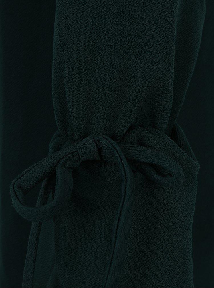 Tmavě zelené šaty se zvonovými rukávy Dorothy Perkins