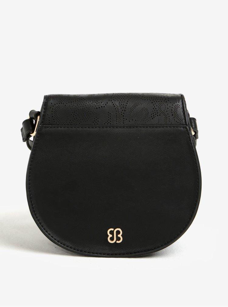 Černá crossbody kabelka s jemným perforovaným vzorem Bessie London