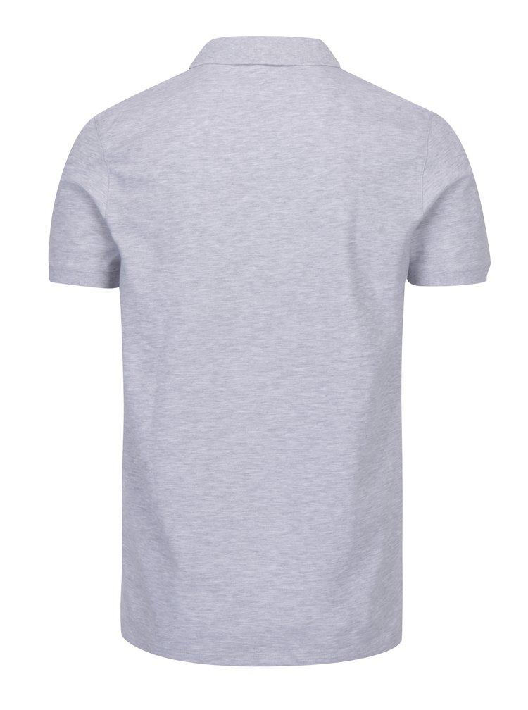 Šedé polo tričko Selected Homme Damon
