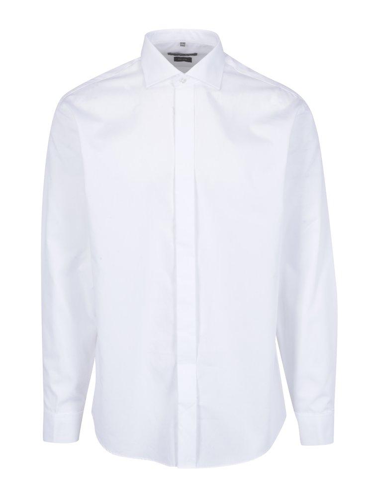 Bílá formální slim fit košile Seven Seas Poplin Tuxedo
