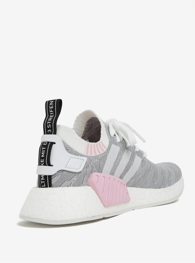 Šedé dámské vzorované tenisky adidas Originals NMD