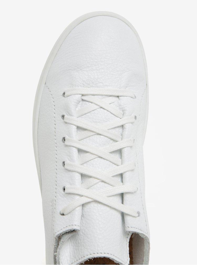 Bílé dámské kožené tenisky Woden Jane II