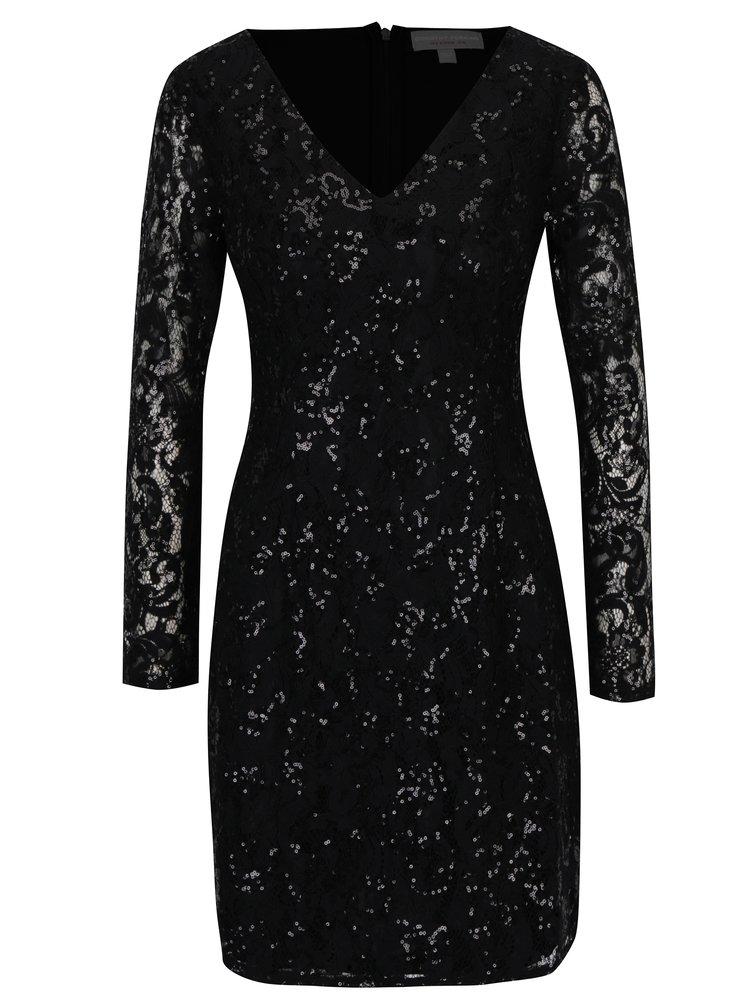 Černé krajkové šaty s flitry Dorothy Perkins