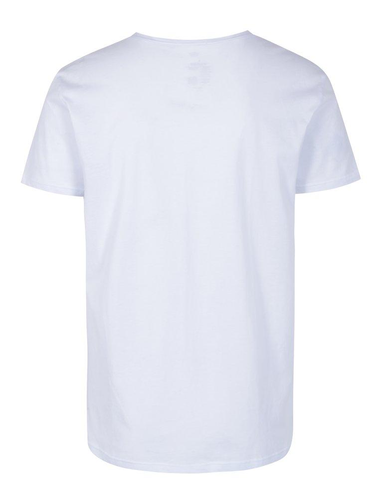 Sada dvou triček v bílé a černé barvě s véčkovým výstřihem GANT