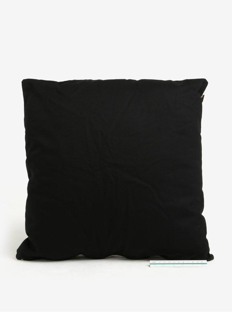 Černo-bílý vzorovaný polštář Butter Kings