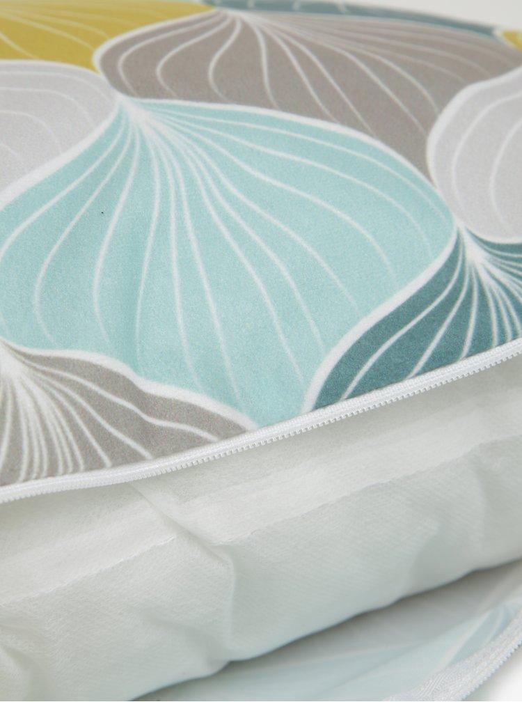 Bílo-zelený vzorovaný polštář Butter Kings