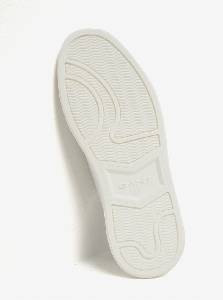 Bílé pánské kožené tenisky GANT Beacon