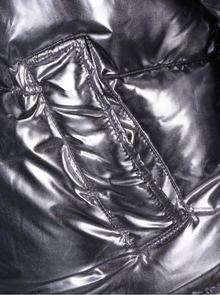 Zimní prošívaná bunda ve stříbrné barvě TALLY WEiJL