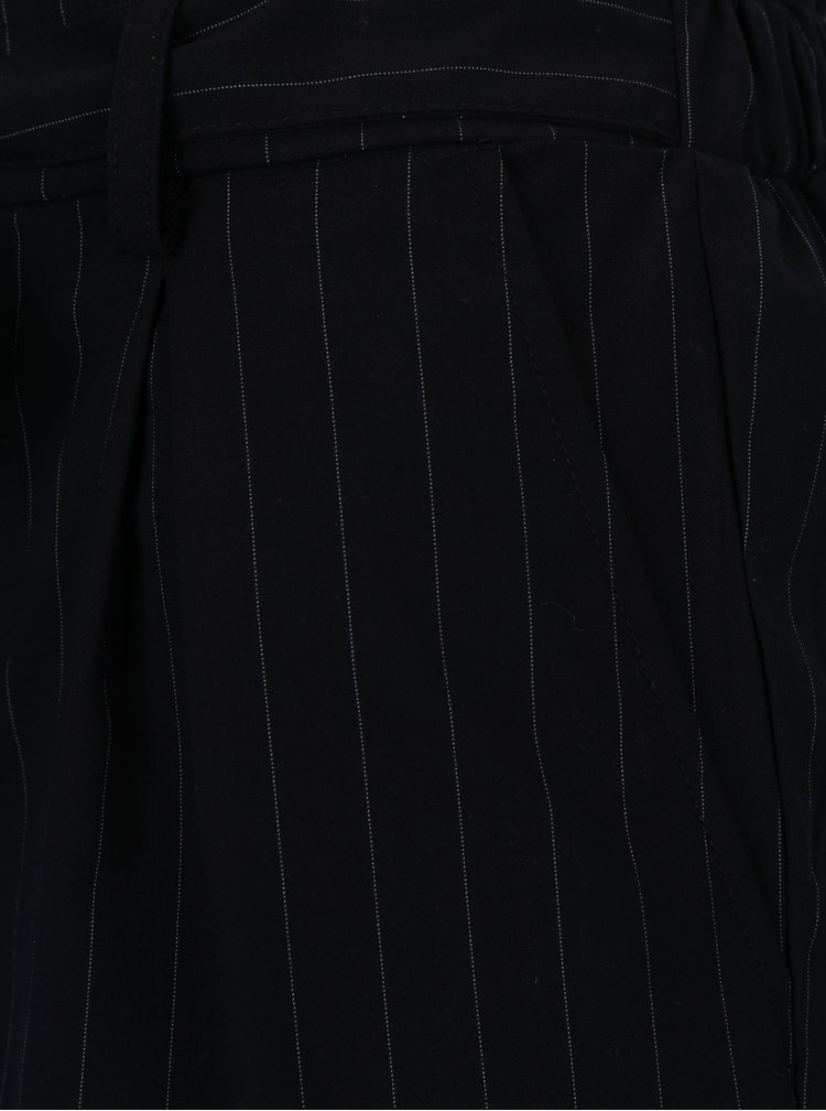 Bílo-černé pruhované kraťasy s mašli TALLY WEiJL