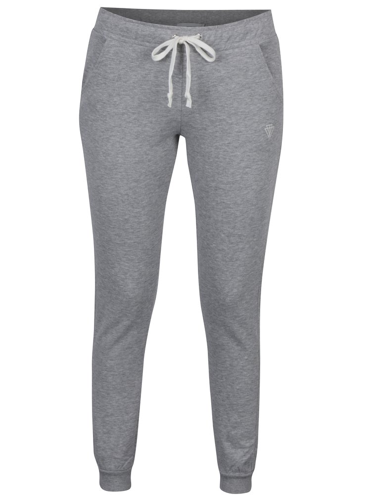 Pantaloni sport gri melanj cu buzunare -  TALLY WEiJL