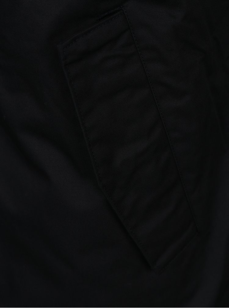 Geaca parka si jacheta bomber negre 2 in 1 Selected Homme