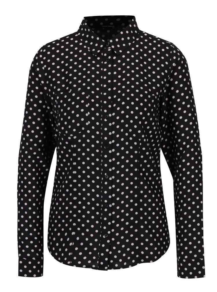 Bílo-černá puntíkovaná košile TALLY WEiJL