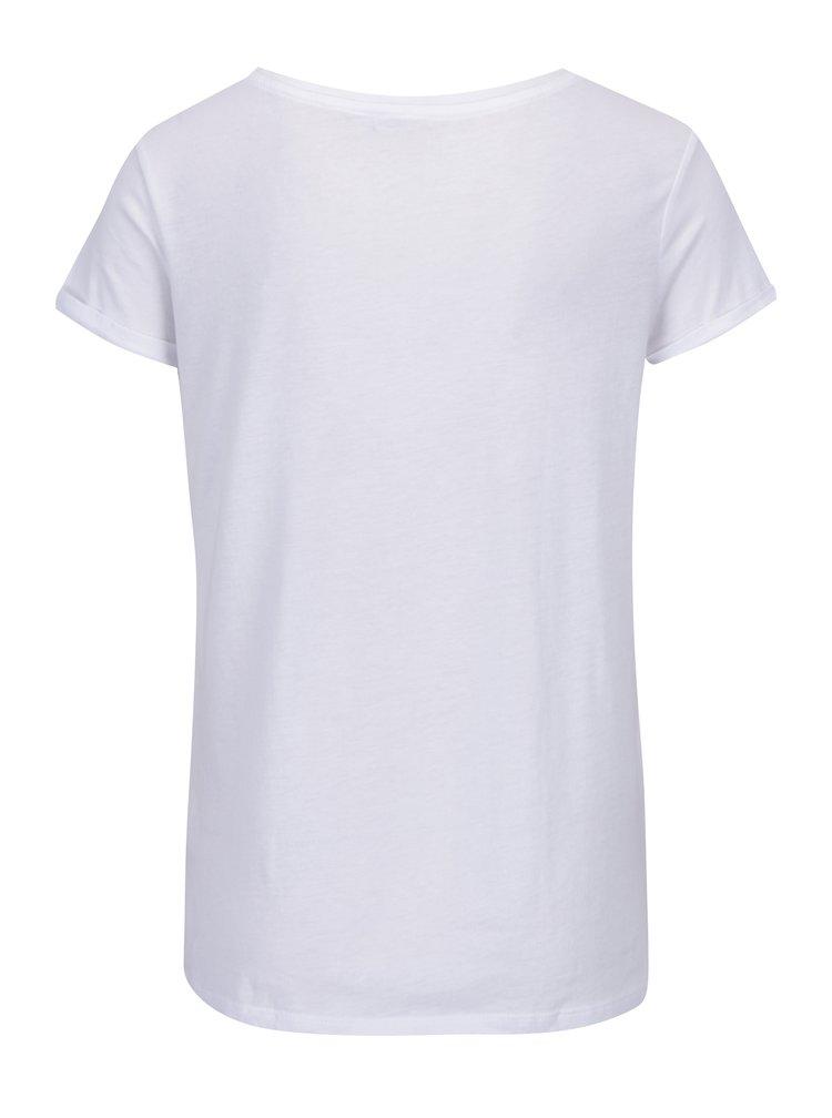 Bílé tričko s kapsou a nášivkou TALLY WEiJL