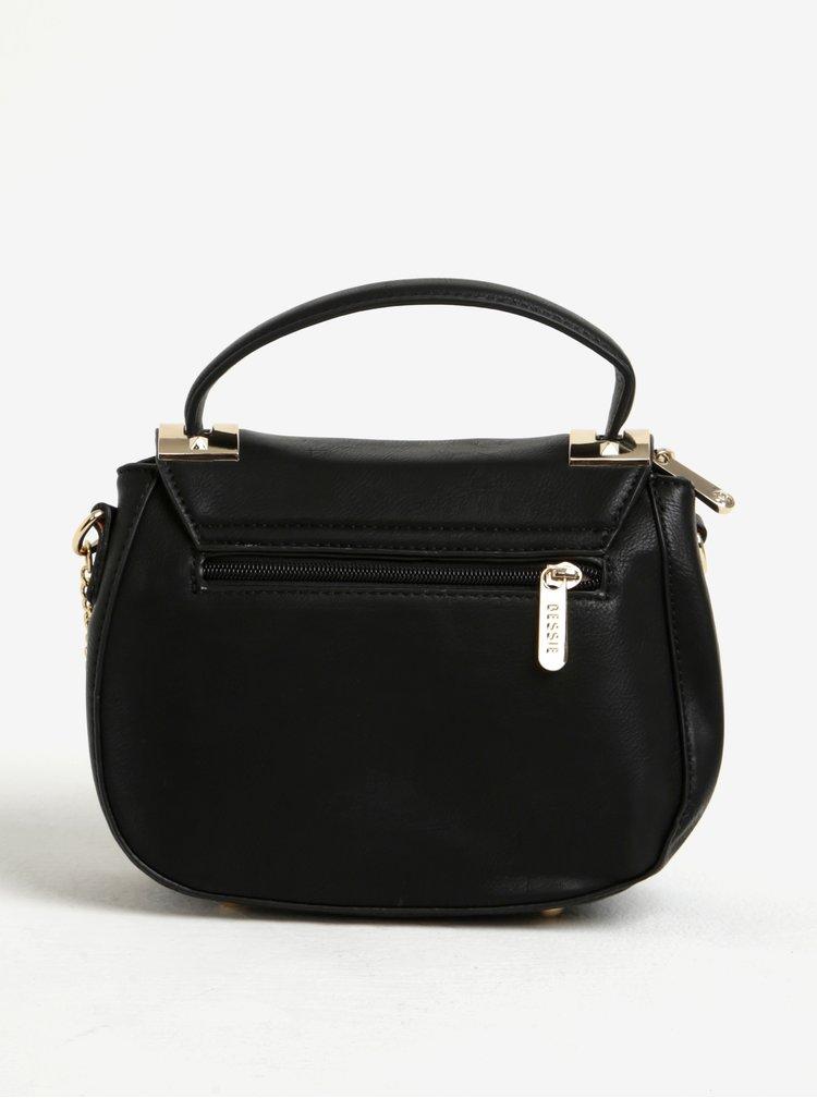 Černá crossbody kabelka s řetízkem ve zlaté barvě Bessie London