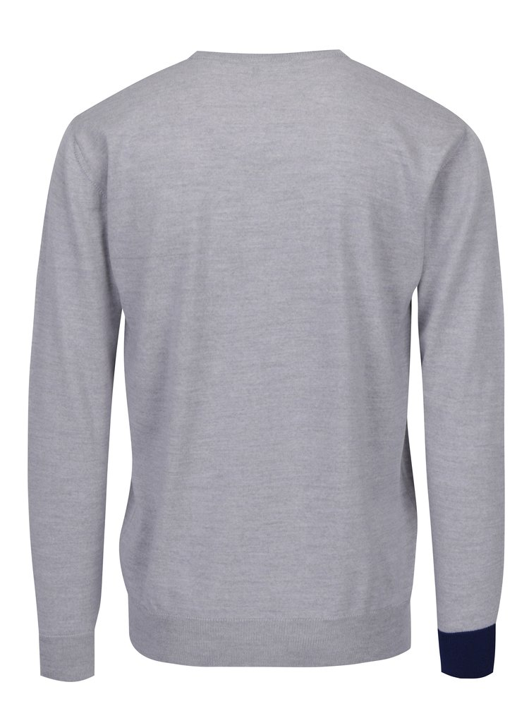 Šedý svetr z merino vlny Live Sweaters