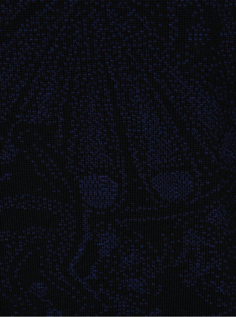 Pulover din lana merino negru cu model abstract -  Live Sweaters Hikuri