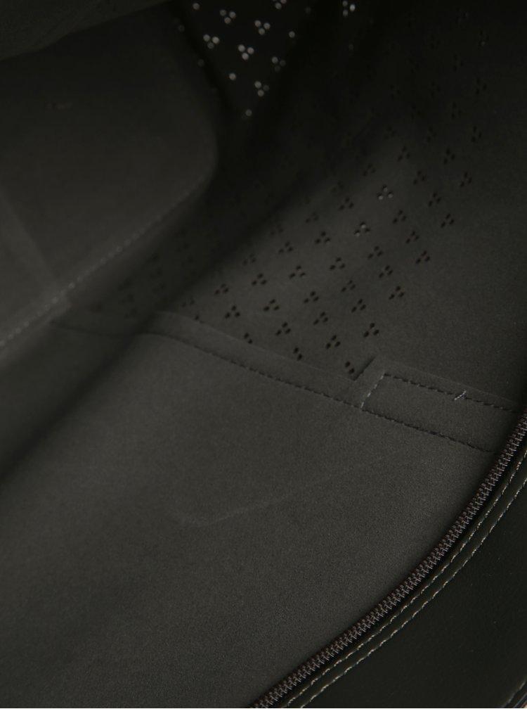 Geanta  gri inchis cu aspect 2in1 si perforatii Bessie London