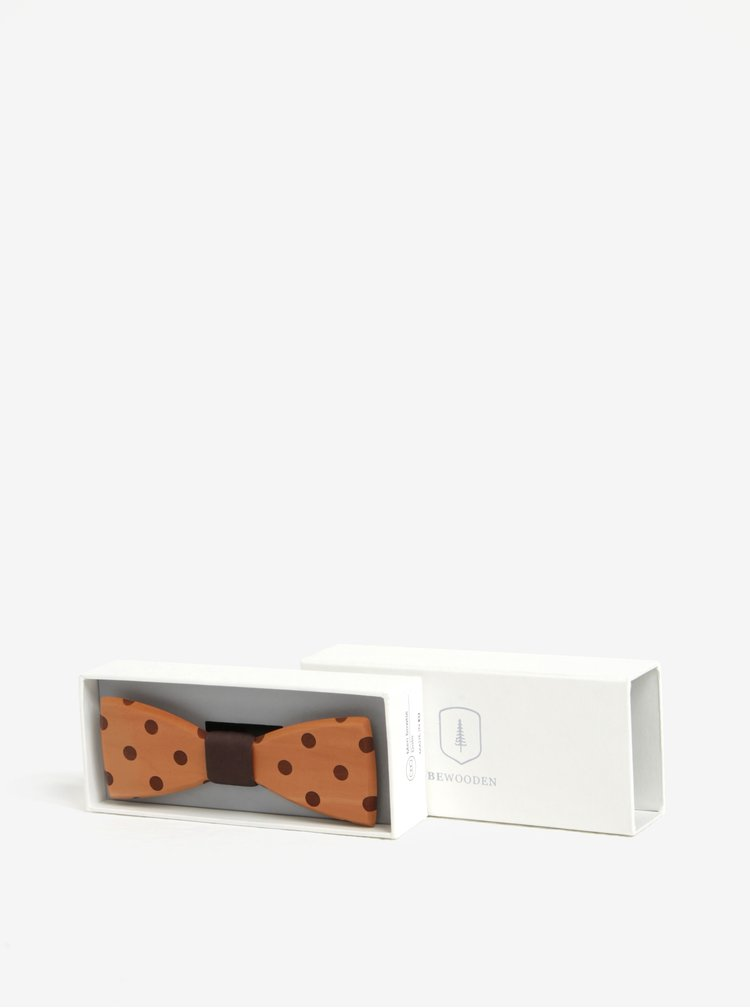 Papion din lemn cu model  - BeWooden Dolo