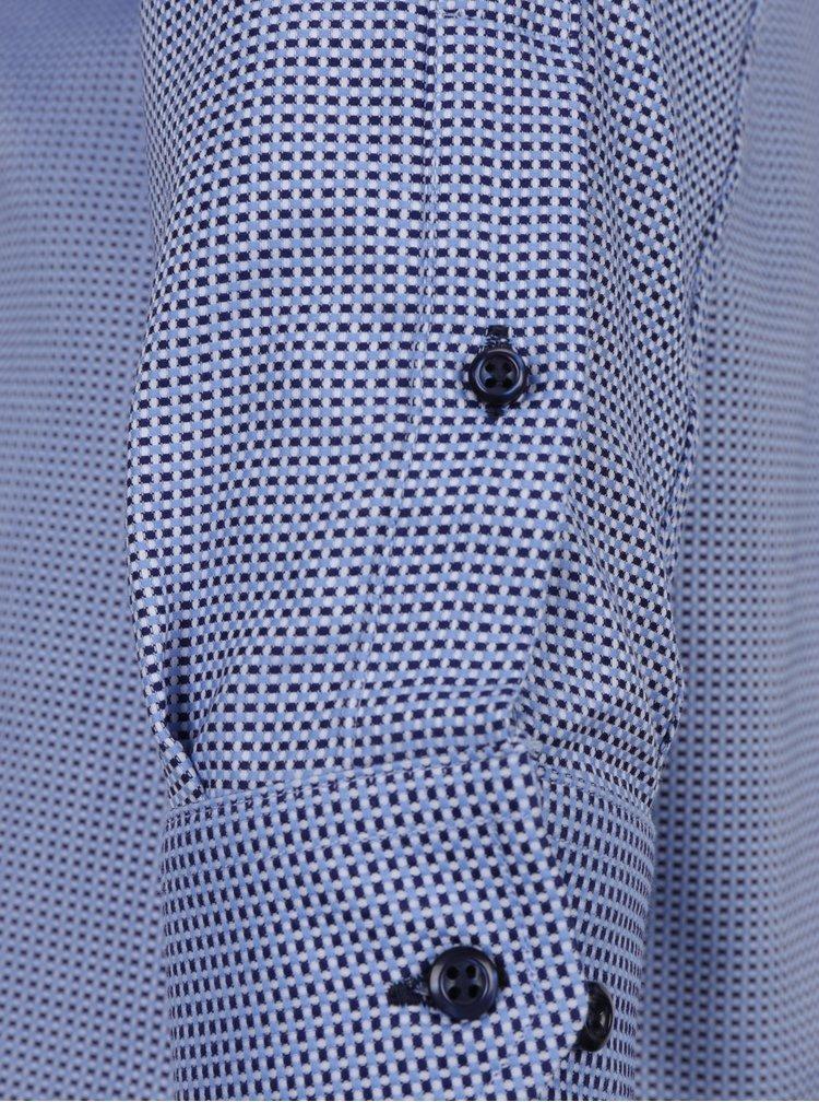 Modrá pánská vzorovaná slim fit košile Seven Seas