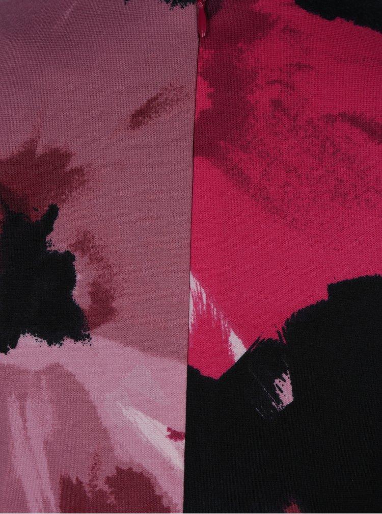 Tyrkysovo-růžové pouzdrové šaty s překládaným výstřihem Dorothy Perkins