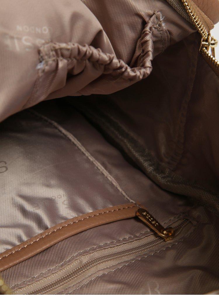 Hnědý malý batoh s detaily ve zlaté barvě Bessie London