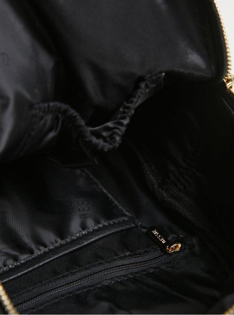 Rucsac mic negru cu detalii aurii - Bessie London