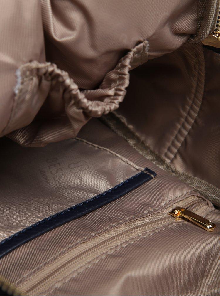Rucsac mic bleumarin cu detalii aurii - Bessie London