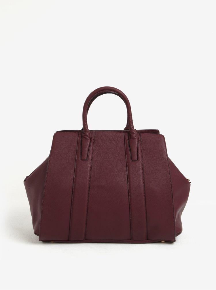 Vínová kabelka s detailmi v zlatej farbe Bessie London