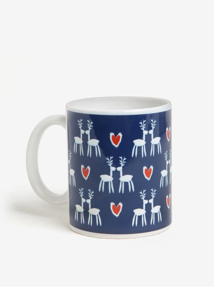 Cana ceramica cu reni si inimi - Butter Kings