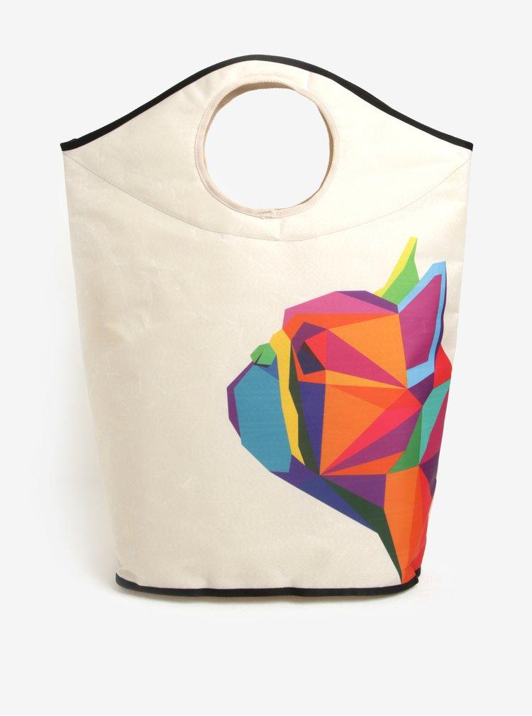 Cos textil pentru rufe cu print buldog - Butter Kings