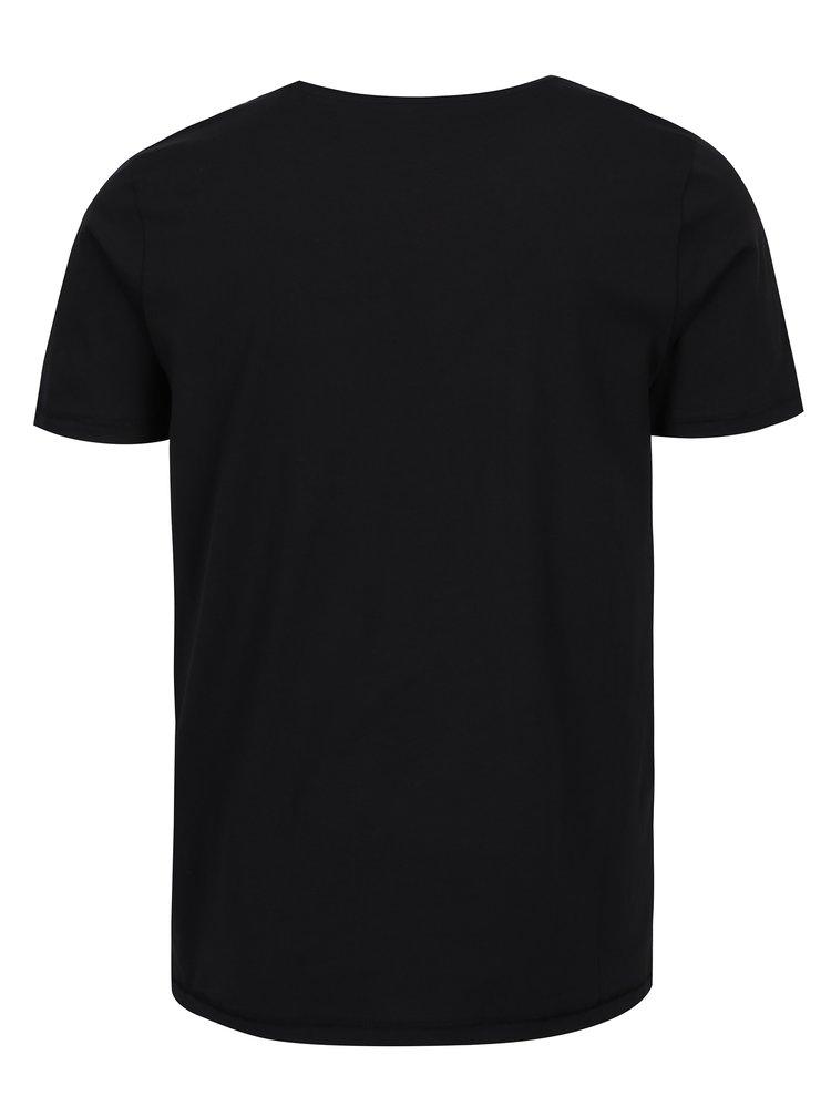 Černé tričko s nápisem ONLY & SONS Busker