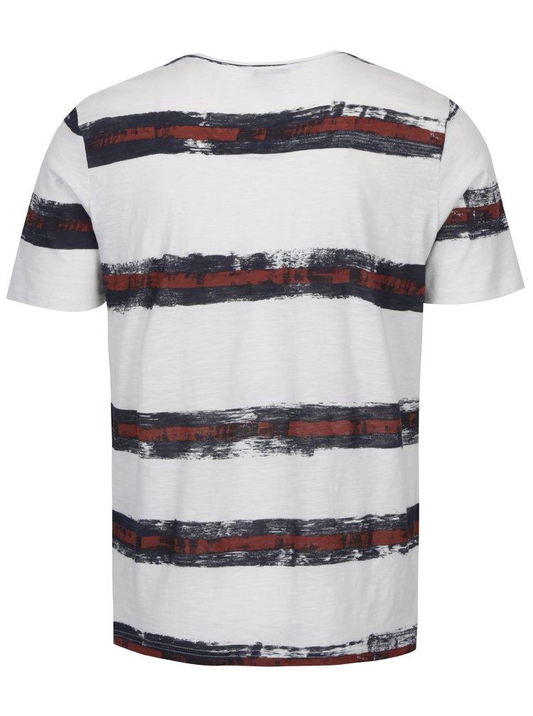 Šedo-krémové tričko s potiskem ONLY & SONS Balder