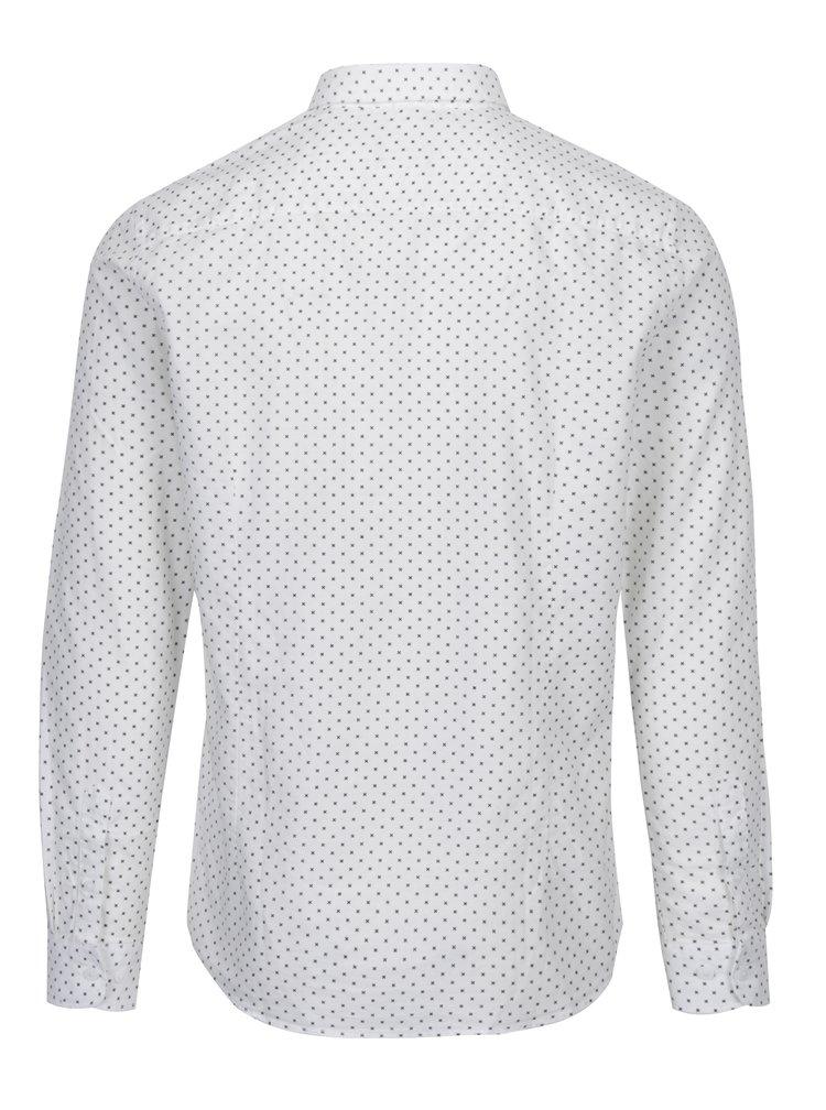Krémová vzorovaná košile ONLY & SONS Barry