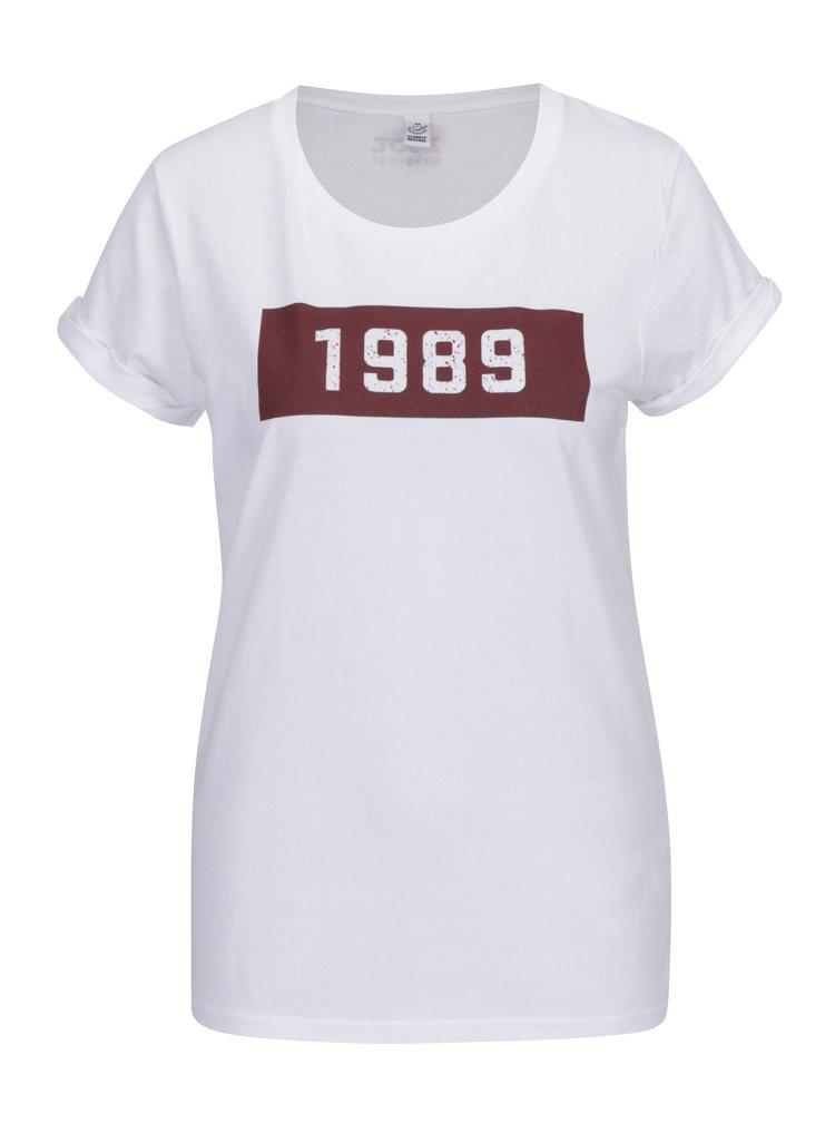 Bílé dámské tričko s potiskem ZOOT Original 1989