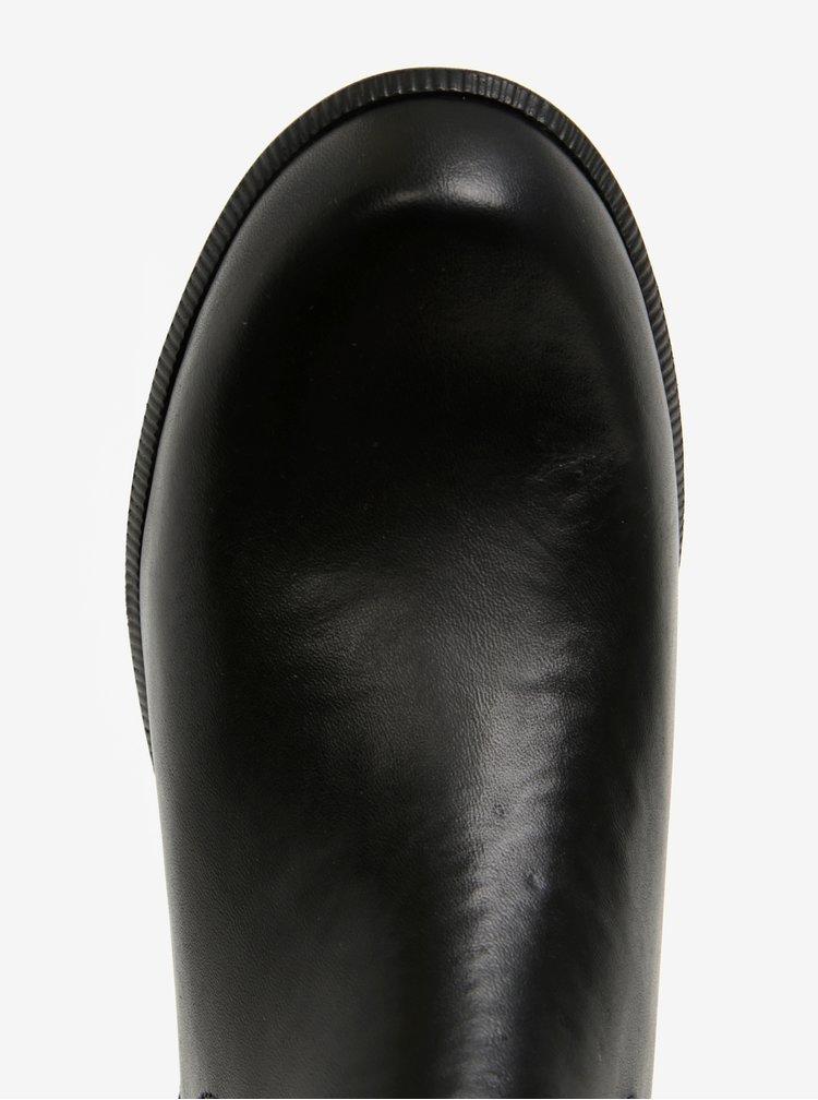 Ghete Chelsea negre din piele naturala cu talpa ortopedica - Tamaris