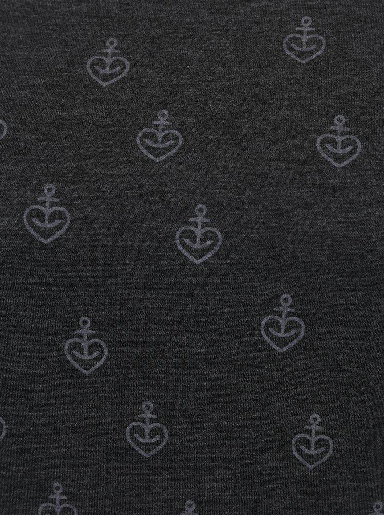 Tmavě šedé tričko s kapucí Haily´s Inka
