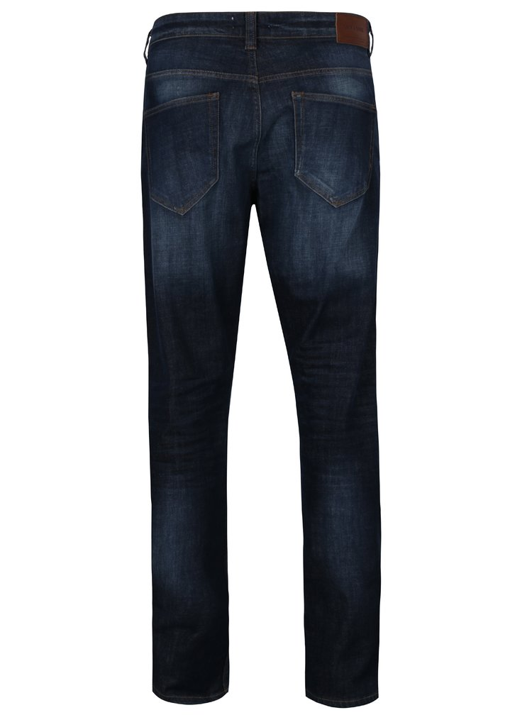 Blugi slim fit bleumarin cu aspect prespalat - ONLY & SONS Weft