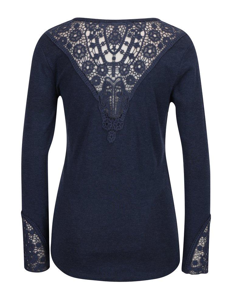 Tmavě modré tričko s krajkou Haily´s Rea