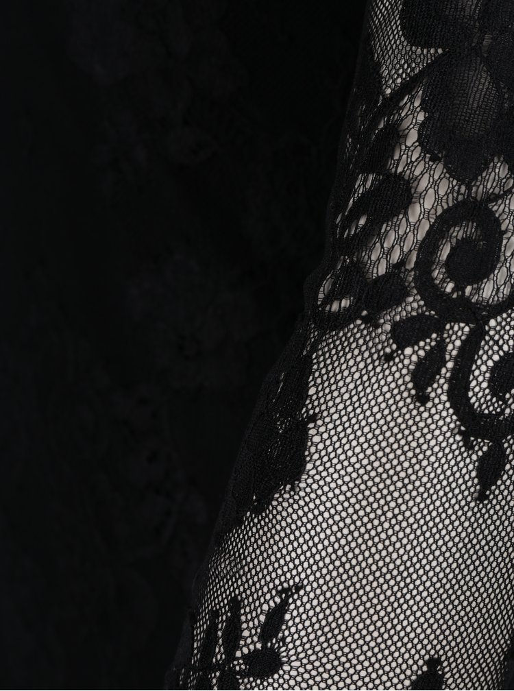Černé krajkové body s dlouhým rukávem Haily´s Holly