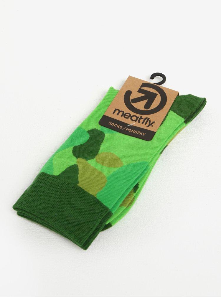 Sada tří párů vzorovaných ponožek MEATFLY