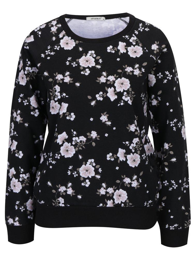 Bluza neagra cu print floral Haily's Lilian