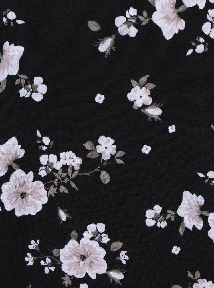 Černá květovaná mikina Haily´s Lilian