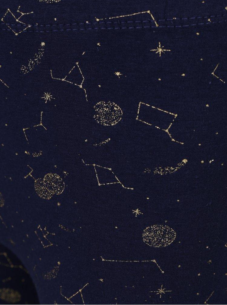 Tmavě modré holčičí legíny s potiskem souhvězdí 5.10.15.