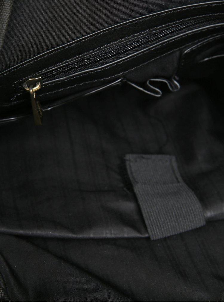 Rucsac mare negru cu detalii cu aspect de piele intoarsa pentru barbati Bobby Black